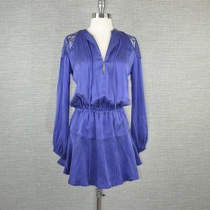 🎉HOST PICK🎉NWT Karina Grimaldi Blue Silk Dress S